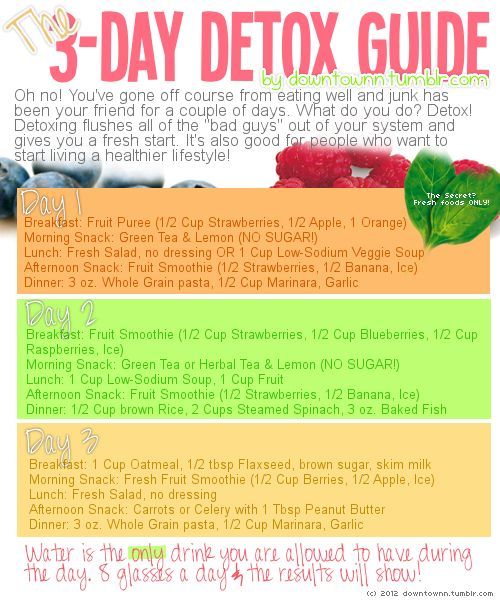 A 3 Day Detox Diet To Reset Your Body — The Detox Specialist