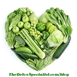 detoxing your body, green food